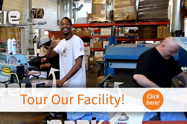 20,000 square feet of warehouse space dedicated to production.
