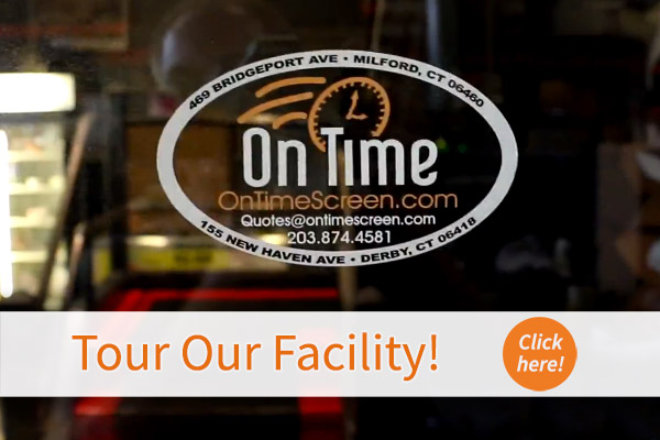 A decal of the On Time logo.